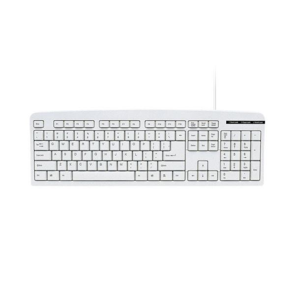 【有線タイプ】余分なキーを省いた標準英語配列104キーボード、USB接続 【送料無料】(まとめ) サンワサプライ 英語USBキーボードライトグレー SKB-E1UN 1台 【×10セット】