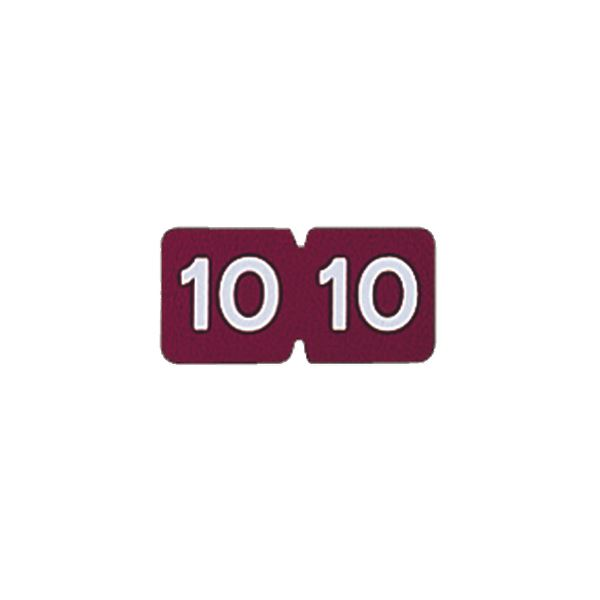【送料無料】(まとめ) リヒトラブ カラー月ラベルMロールタイプ 「10」 HK781R-10 1箱(300片) 【×10セット】