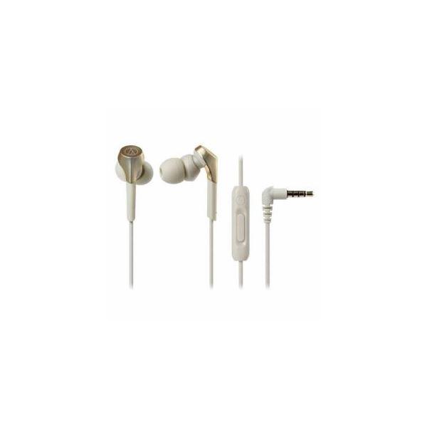 【送料無料】Audio-Technica ハイレゾ音源対応 スマートフォン用イヤホン シャンパンゴールド ATH-CKS550XiS-CG