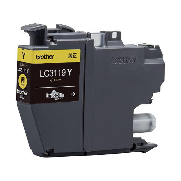 (まとめ)ブラザー インクカートリッジ イエロー大容量 LC3119Y 1個 【×3セット】