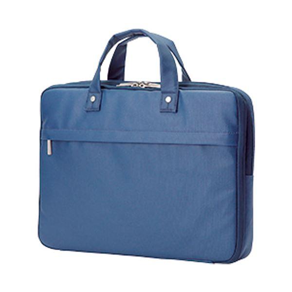 【送料無料】(まとめ)エレコム ビジネス薄型バッグBM-CB02BU ブルー【×5セット】