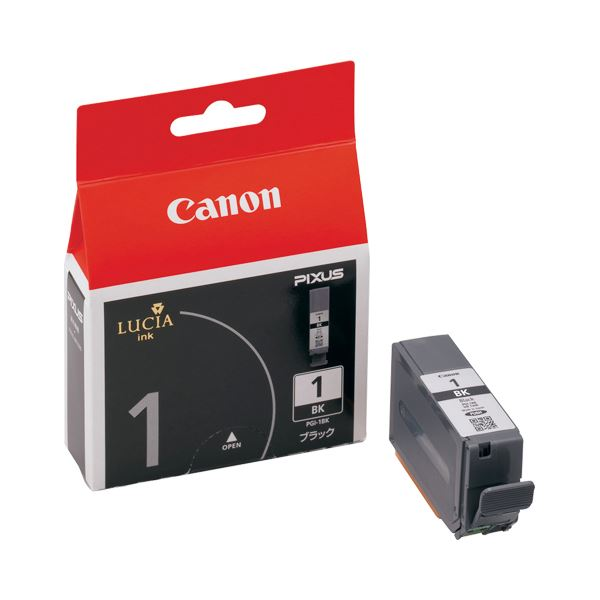 【送料無料】(まとめ) キヤノン Canon インクタンク PGI-1BK ブラック 2443B001 1個 【×10セット】