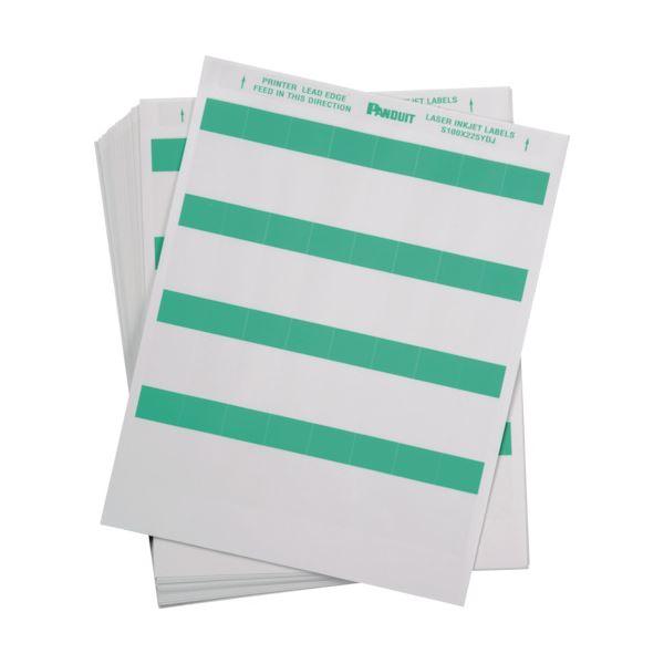 【送料無料】パンドウイットレーザープリンタ用セルフラミネートラベル 緑 S100X225YDJ 1箱(1000枚)