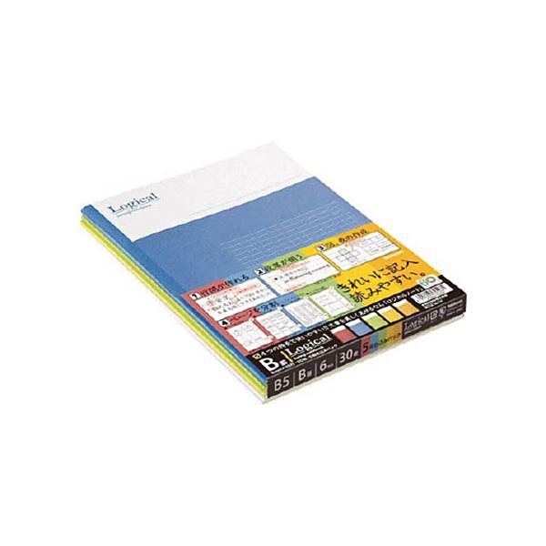 (まとめ) ナカバヤシ スイングロジカルノート B罫B501B-5P 1パック(5冊) 【×30セット】