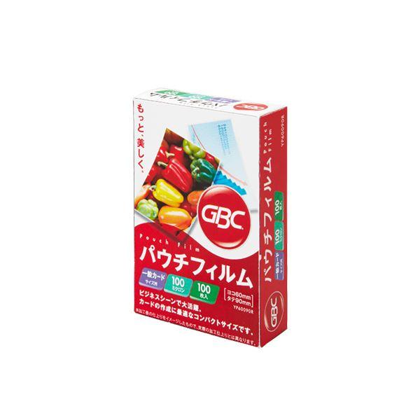パウチフィルム 一般カードサイズ 1パック(100枚) YP60090R 【×30セット】 【送料無料】(まとめ) アコ・ブランズ 100μ