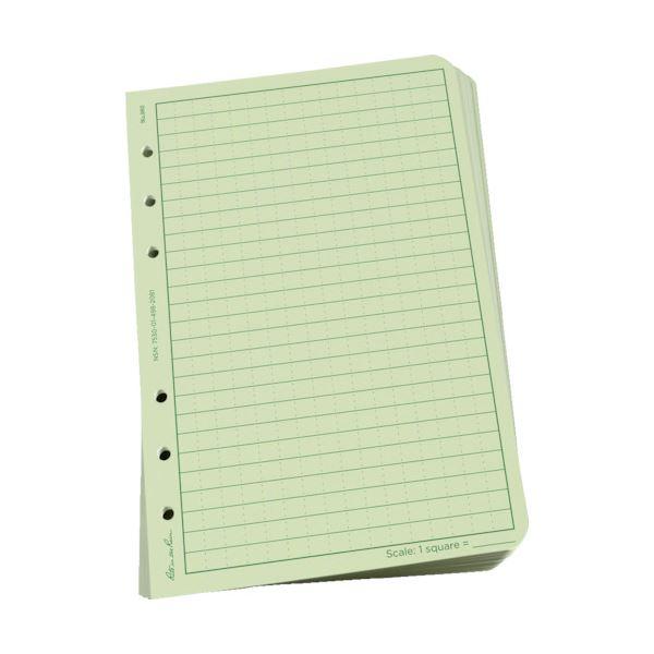 【送料無料】(まとめ) ライトインザレイン ルーズリーフユニバーサル グリーン 982 1パック(100枚) 【×5セット】