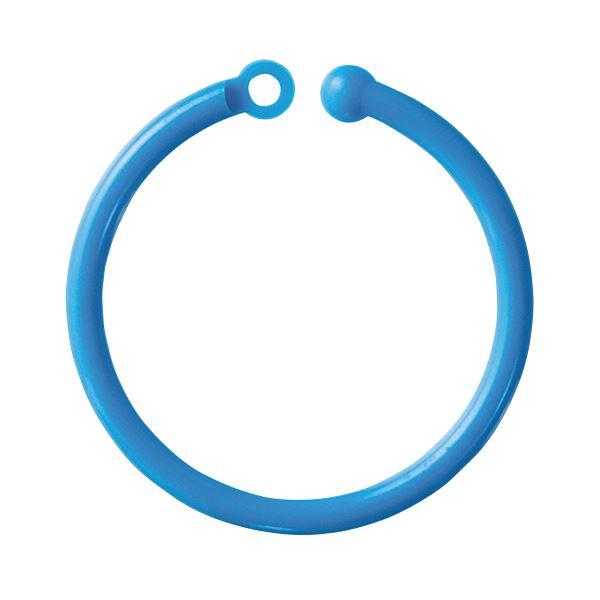 【送料無料】(まとめ) ミツヤ カラープラリング 内径30mm青 CCR-02-50P-BU 1パック(50本) 【×30セット】
