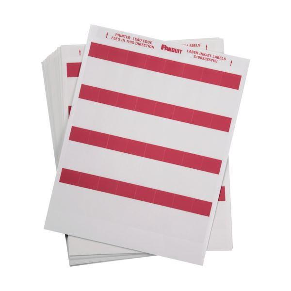 【送料無料】パンドウイットレーザープリンタ用セルフラミネートラベル 赤 S100X225YHJ 1箱(1000枚)