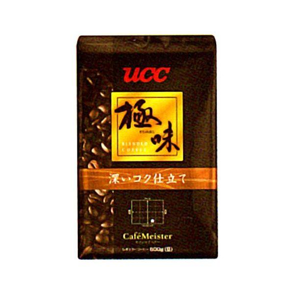 【送料無料】UCC上島珈琲 UCC極味 深いコク仕立て(豆)AP500g 12袋入り UCC310480000