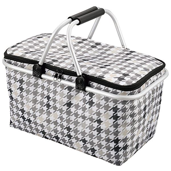 【送料無料】(まとめ)カクセー たためる ピクニック 保冷バッグ ベーシック 【×24個セット】