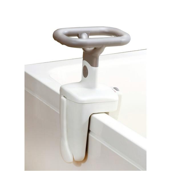 【送料無料】浴槽手すり/手摺 【O型】 幅17×奥行22.5×高さ40cm 工具不要 取付簡単 〔風呂 バスルーム〕【代引不可】