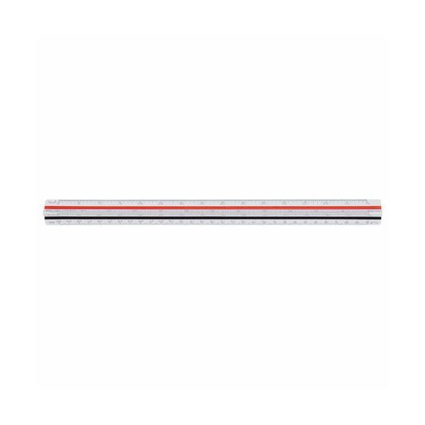 (まとめ) ライオン事務器 三角スケール 土地家屋用300mm No.501 1個 【×5セット】
