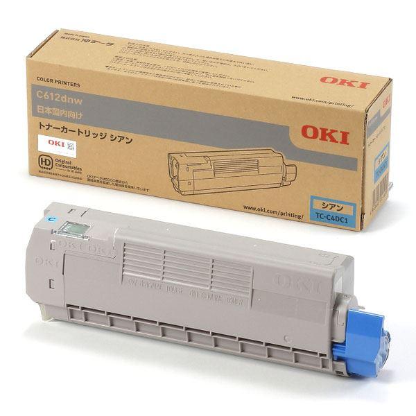 (業務用3セット) 【純正品】 OKI TC-C4DC1 トナーカートリッジ シアン