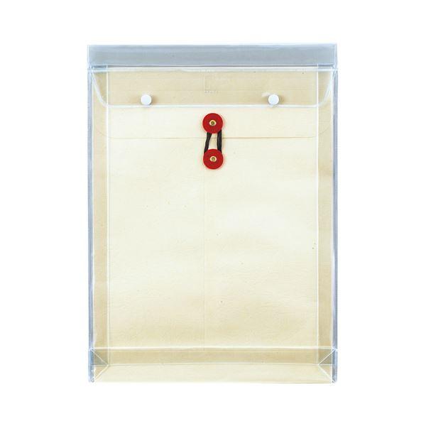 【送料無料】(まとめ) ピース マチヒモ付ビニール保存袋 レザック 角0 184g/m2 白 918 1枚 【×30セット】