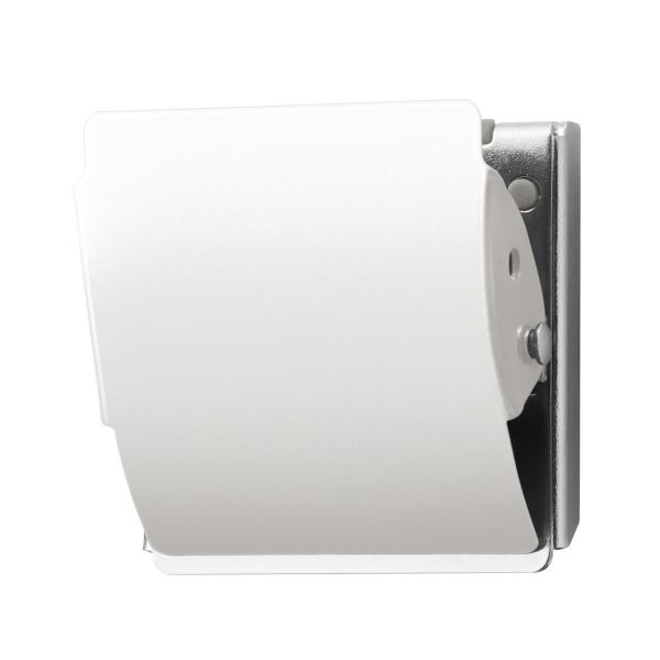 【送料無料】(まとめ)プラス マグネットクリップ CP-040MCR M ホワイト【×50セット】