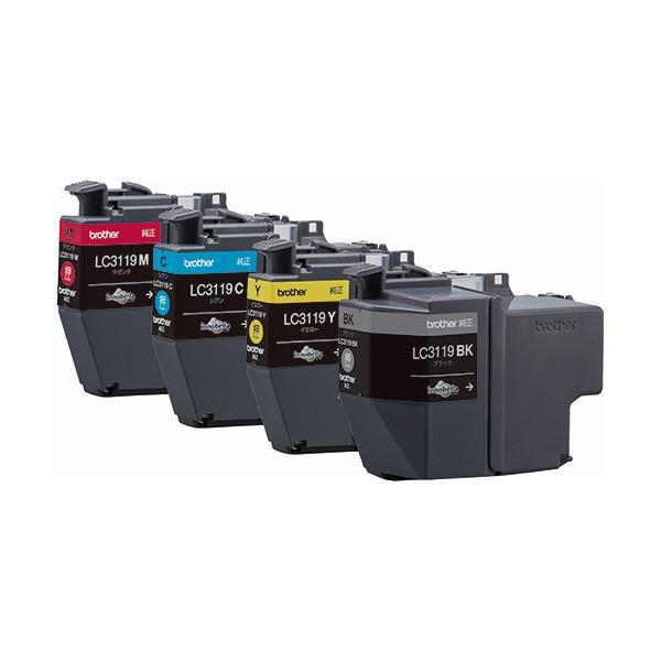 【送料無料】(まとめ)ブラザー インクカートリッジ 4色パック大容量 LC3119-4PK 1箱(4個:各色1個)【×3セット】