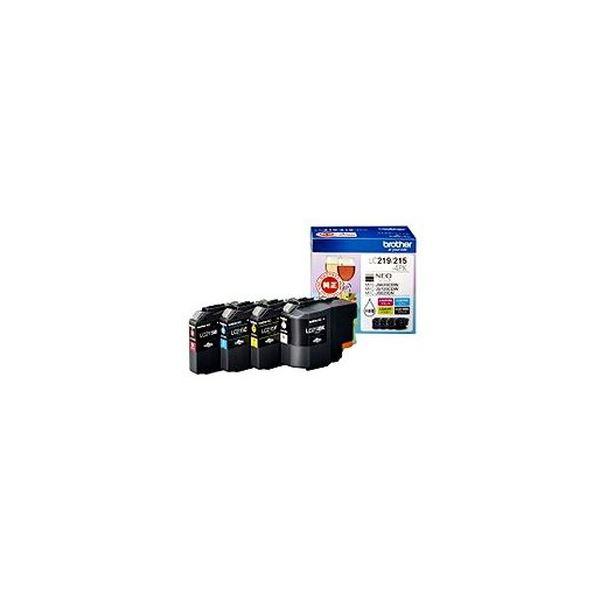 【送料無料】(まとめ)ブラザー インクカートリッジ お徳用4色 大容量 LC219/215-4PK 1箱(4個:各色1個)【×3セット】