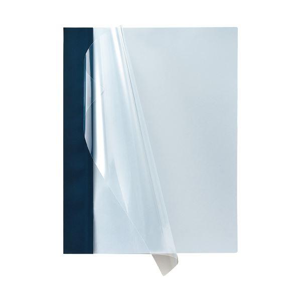 【送料無料】(まとめ) TANOSEE 製本ファイル プレゼンテーション向け A4タテ 50枚収容 ダークブルー 1パック(5冊) 【×30セット】