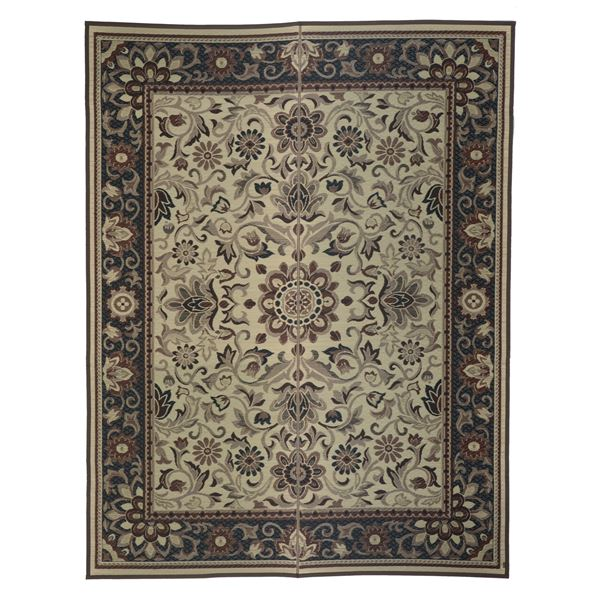 国産い草 ラグマット/絨毯 【約191×250cm ベージュ】 日本製 縁:綿100% 『いざよい』 〔リビング ダイニング〕【代引不可】
