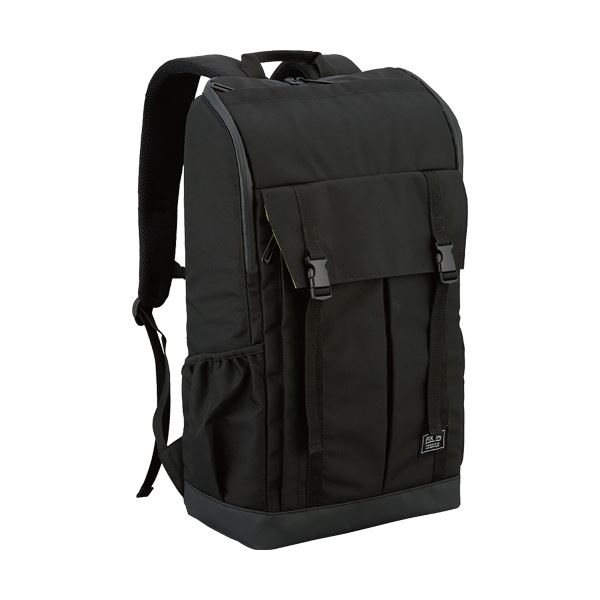 【送料無料】ナカバヤシ キャリングバッグパックフラップポケット付き 撥水 ブラック CB-268BK 1個