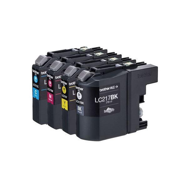 (まとめ)ブラザー インクカートリッジ 4色パック大容量 LC217/215-4PK 1箱(4個:各色1個)【×3セット】