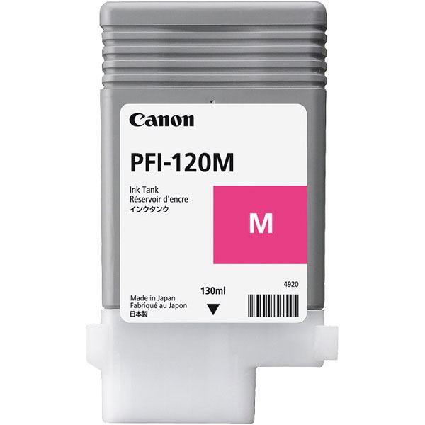 <title>送料無料 まとめ 純正品 CANON 2020モデル 2887C001 PFI-120M インクタンク マゼンタ ×5セット</title>