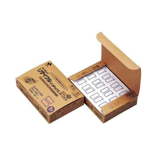 【送料無料】(まとめ) ニチバン マイタックリサイクルインデックス ブンボックス 中 23×29mm 青枠 MLBB-132BR1パック(1200片:12片×100シート) 【×10セット】