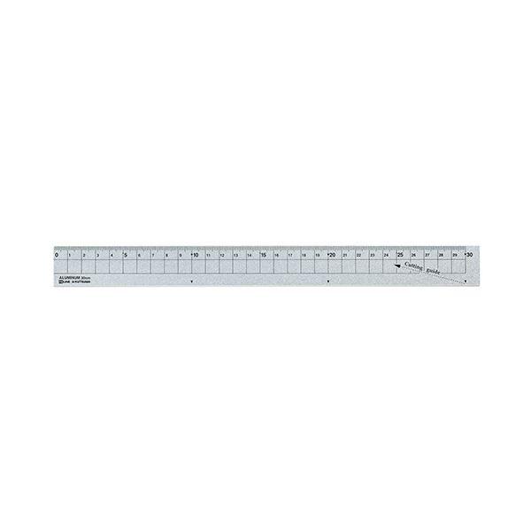 (まとめ) クツワ アルミ定規 30cm シルバーXS30SV 1個 【×30セット】