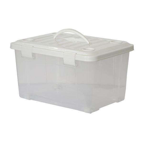 【送料無料】(まとめ) フリーボック/収納ボックス 【幅50cm】 プラスチック製 ハンドル&コロ付き 『プロフィックス』 【×8個セット】