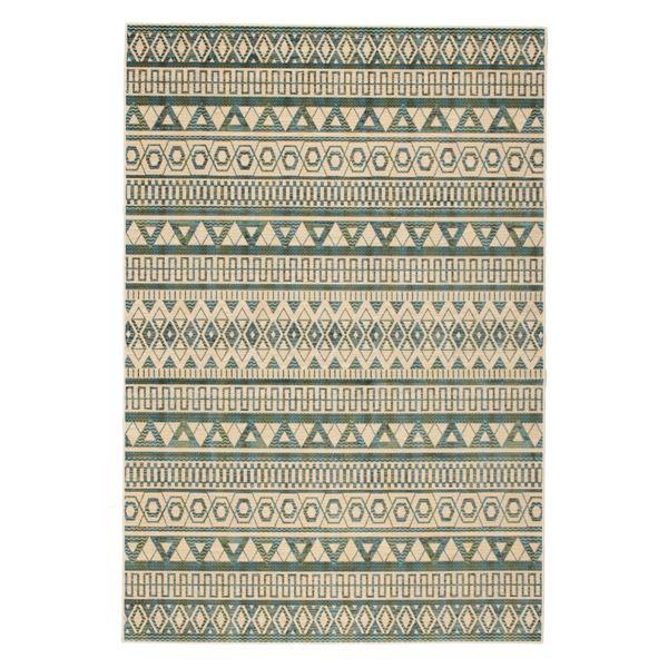 モケット ラグマット/絨毯 【195cm×195cm グリーン】 正方形 ベルギー製 綿混 『フォレ』 〔リビング〕【代引不可】