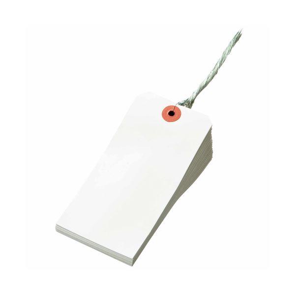 【送料無料】(まとめ) TANOSEE 再生紙針金荷札 2号 60×120mm 1箱(1000枚) 【×5セット】