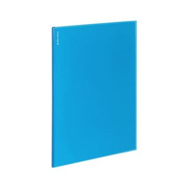 【送料無料】(まとめ)コクヨ ポケットファイルα(ノビータα)固定式 A4タテ 12ポケット 背幅3mm ライトブルー ラ-NF12LB 1セット(10冊)【×5セット】