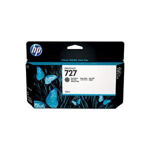HP HP727 インクカートリッジ顔料マットブラック 130ml B3P22A 1個
