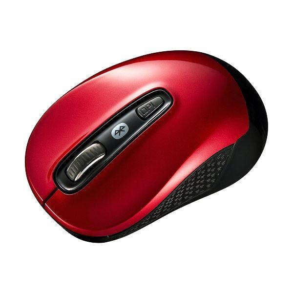 【送料無料】(まとめ) サンワサプライ Bluetooth3.0ブルーLEDマウス レッド MA-BTBL29R 1個 【×10セット】