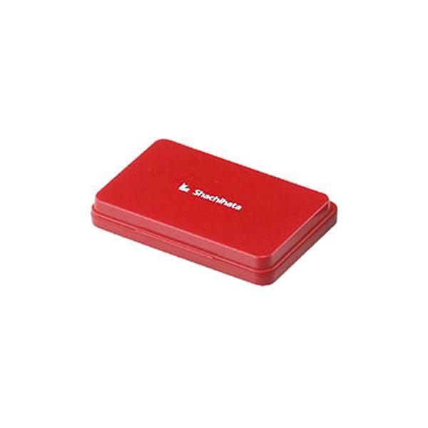 【送料無料】(まとめ) シヤチハタ スタンプ台 大形 赤 HGN-3-R 1個 【×10セット】