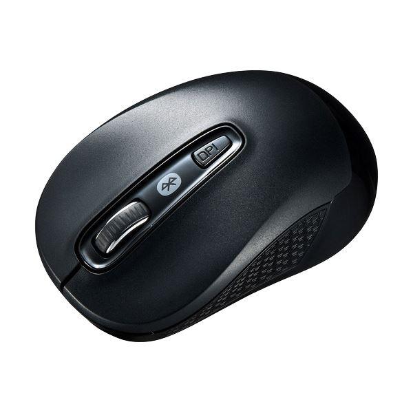 【無線タイプ】左右対称、丸いフォルムで手になじむ、疲れにくい快適マウス。 【送料無料】(まとめ) サンワサプライ Bluetooth3.0ブルーLEDマウス ブラック MA-BTBL29BK 1個 【×10セット】