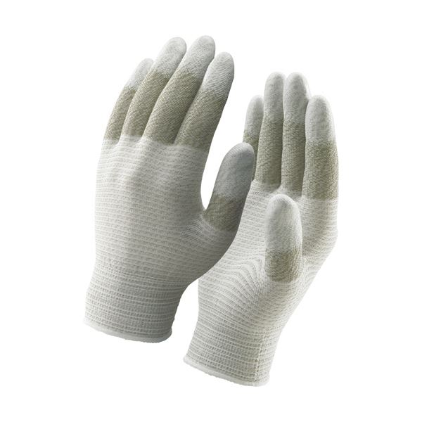 指全体を導電糸のみで編み上げた静電気対策用指先スベリ止め手袋[簡易包装] 【送料無料】(まとめ)ショーワグローブ 簡易包装 制電ライントップ手袋 M A0161-M10P 1パック(10双) 【×3セット】