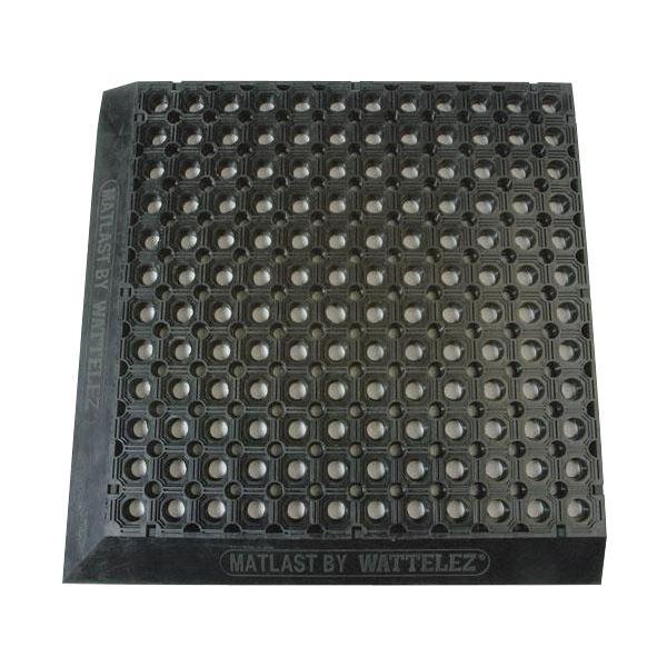 【送料無料】WATTELEZ(ワテレ) 50.01.72N 疲労防止マット 穴開き 黒 510X510