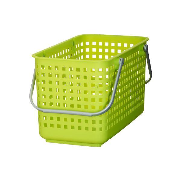 【送料無料】(まとめ) ランドリーバスケット/洗濯かご 【M グリーン】 スタッキング可 SCB-11 『スカンジナビアスタイル』 【10個セット】