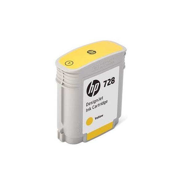 (まとめ)HP HP728 インクカートリッジイエロー 40ml F9J61A 1個【×3セット】