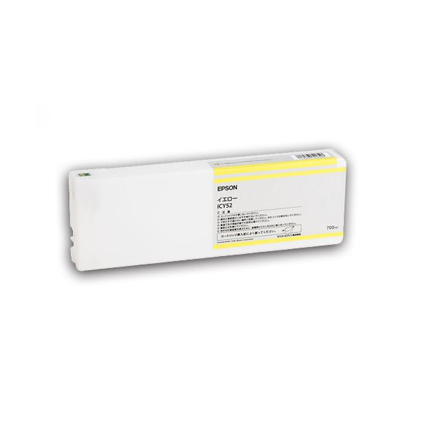 (まとめ) エプソン EPSON PX-P/K3(VM)インクカートリッジ イエロー 700ml ICY52 1個 【×10セット】