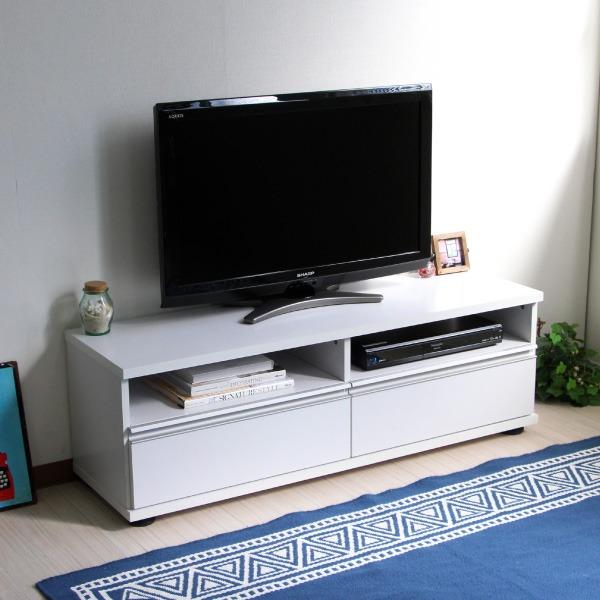 50インチ対応 テレビ台 120cm ロータイプ ホワイト