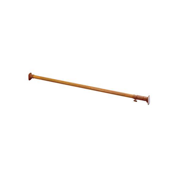 【送料無料】(まとめ) 超強力伸縮ポール/つっぱり棒 【取付幅119~200cm】 木目調 くさび機構 【×8個セット】