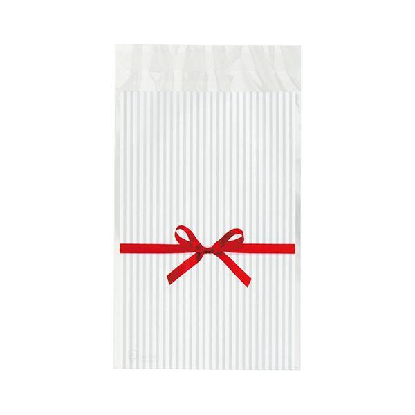 【送料無料】(まとめ) ヘッズ リボンテープ付OPPバッグ 白RI-TO4 1パック(50枚) 【×30セット】