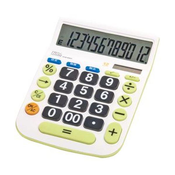 【送料無料】(まとめ)ナカバヤシ 電卓デスクトップ大型キータイプ L 12桁 ECD-8503G 1台【×10セット】