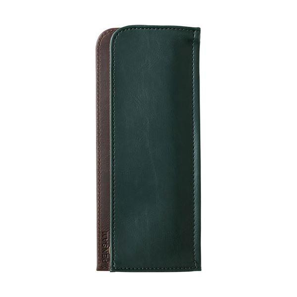【送料無料】(まとめ) キングジム はさめるペンケース ペンサムフラットタイプ 緑 2003ミト 1個 【×10セット】