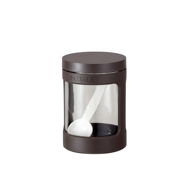 【送料無料】(まとめ) ガラスポット/調味料入れ ミニ 【ブラウン】 470ml スプーン ガラス容器 キッチン用品 『フォルマ』 【45個セット】