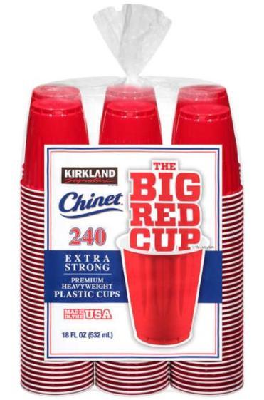 送料込み 送料無料 カークランドシグネチャー チャイネット レッドカップ 532ml x 240個 Kirkland 大規模セール Signature オシャレ Extra Strong 240 Pieces 使い捨て コップ Red Cups 期間限定の激安セール