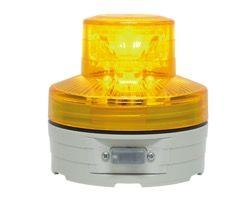 OT5570006 ポールLED回転灯(電池式)黄約φ76×H75mm【テラモト】 03606160-001【03606160-001】