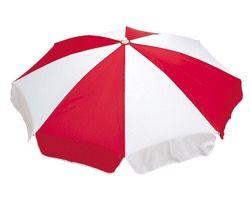 MZ5916166 ガーデンパラソル赤/白1650mm【テラモト】 03605277-001【03605277-001】[4904771612669][4904771612669]